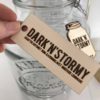 dark and stormy skilt