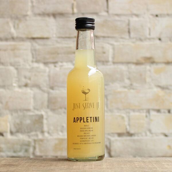 Produktbillede af Appletini cocktail på flaske